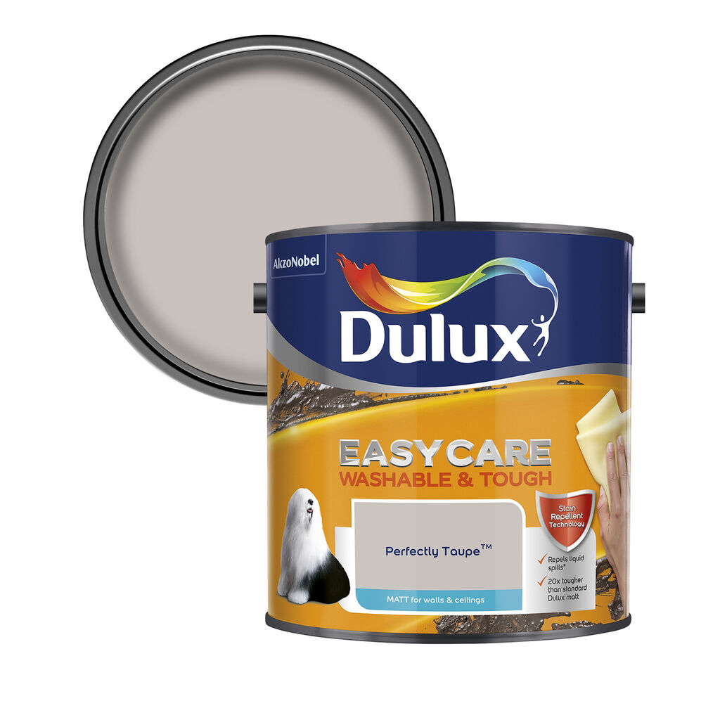 Dulux Easycare Matt 2.5L Perfectly Taupe, , wallpaperIT