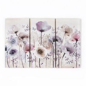 Classic Poppy Trio Printed Canvas Wall Art, , wallpaperIT