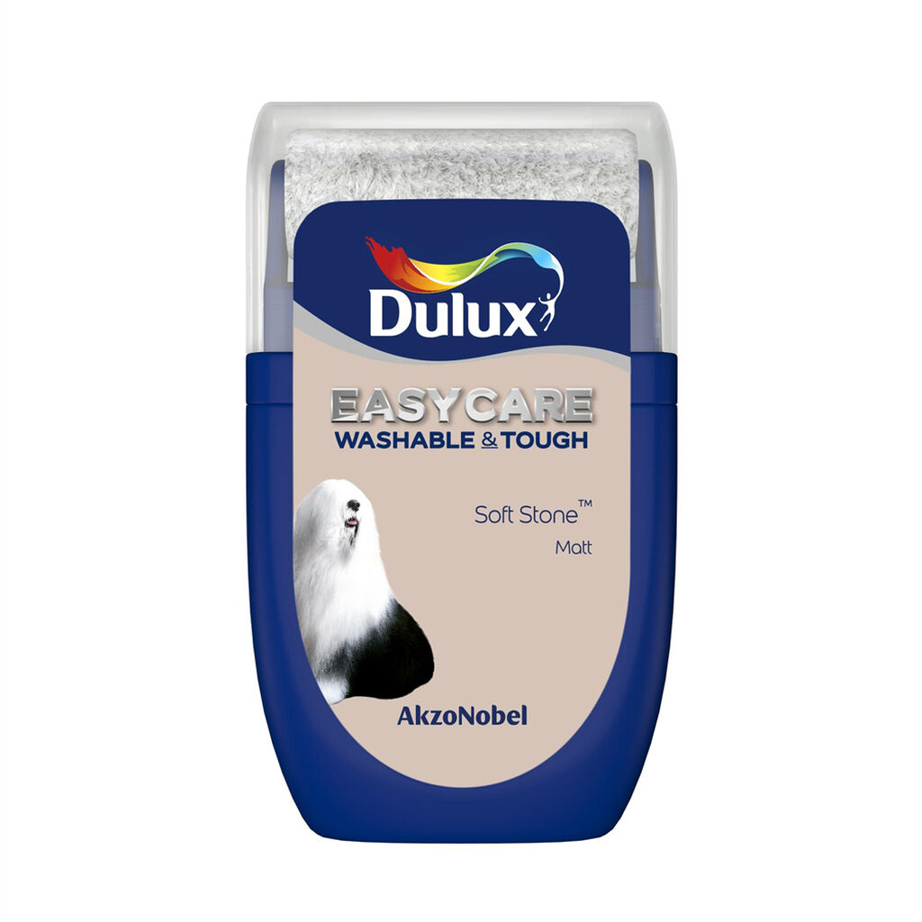 Dulux Easycare Soft Stone 30ml Tester Pot, , wallpaperIT