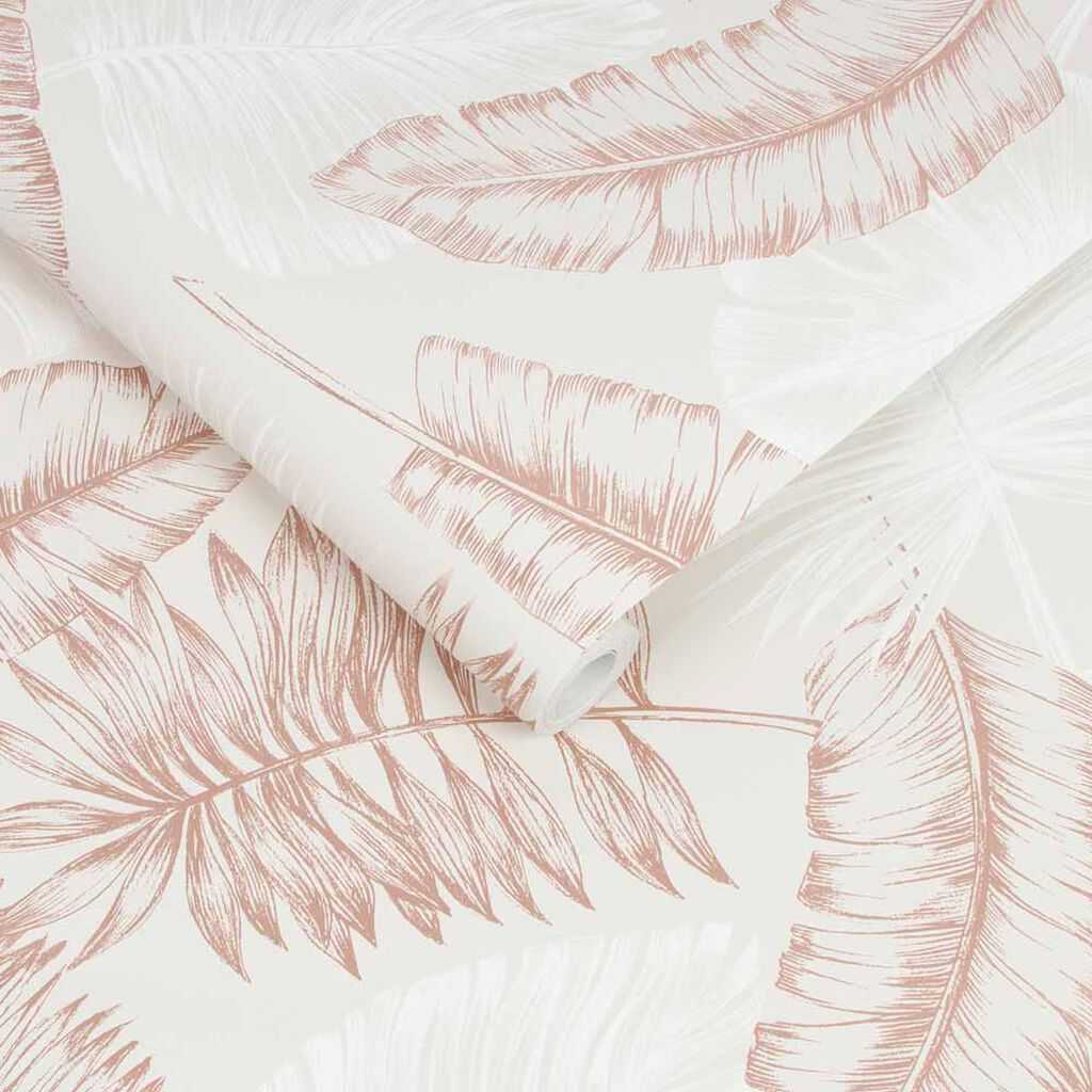 Daintree Taupe & Rose Wallpaper, , wallpaperIT