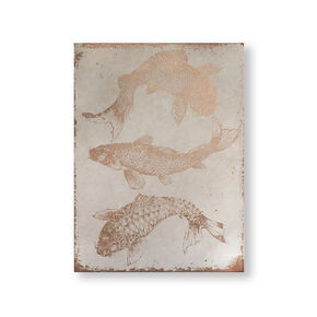 Rose Gold Koi Carp Canvas Wall Art, , wallpaperIT