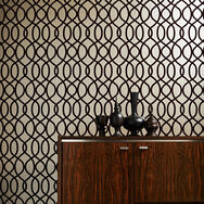 Knightsbridge Flock Russet Wallpaper, , wallpaperIT