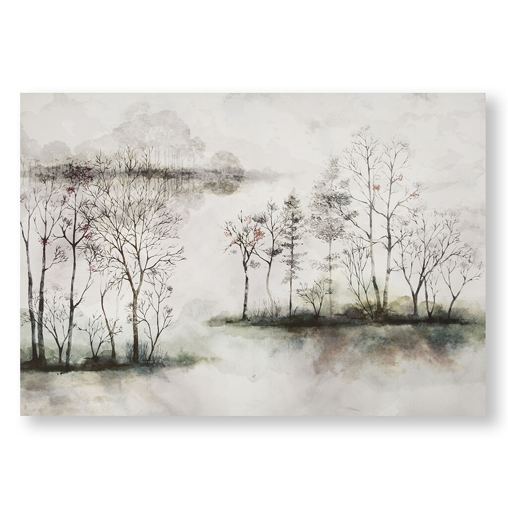 Watercolour Forest Printed Canvas Wall Art, , wallpaperIT