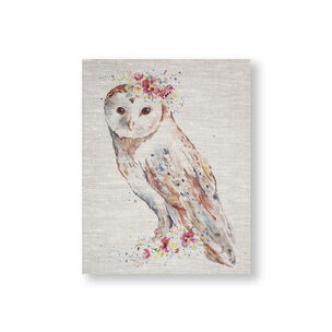 Floral Owl Printed Canvas Wall Art, , wallpaperIT