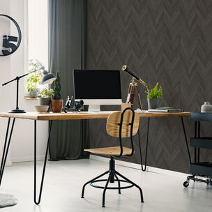 Transform Herringbone Wood Dark Gray Wallpaper, , wallpaperIT