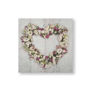 Floral Heart Wall Art, , wallpaperIT