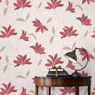 Alannah Red and Gold Wallpaper, , wallpaperIT