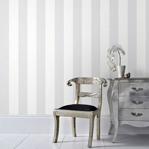 Calico Stripe Grey Wallpaper, , wallpaperIT