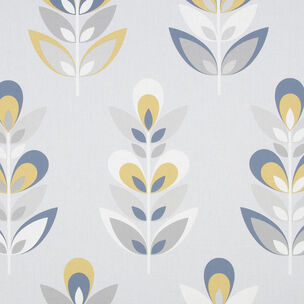 Retro Floral Navy & Yellow Wallpaper, , wallpaperIT
