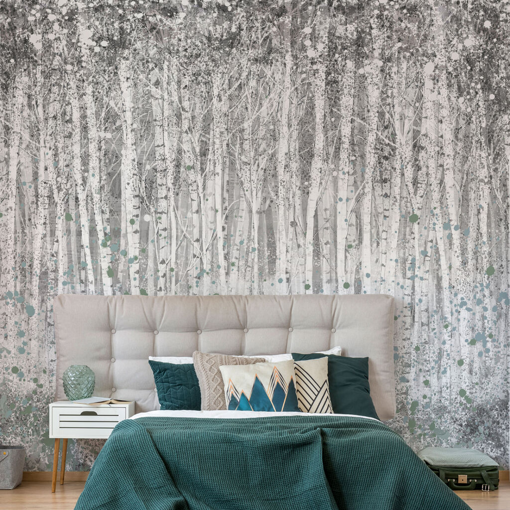 Painterly Woods Shadow Wall Mural, , wallpaperIT