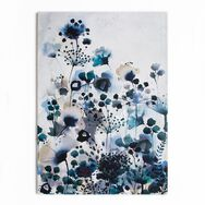 Moody Blue Watercolour Printed Canvas Wall Art, , wallpaperIT