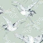 Crane Mint Oriental Wallpaper