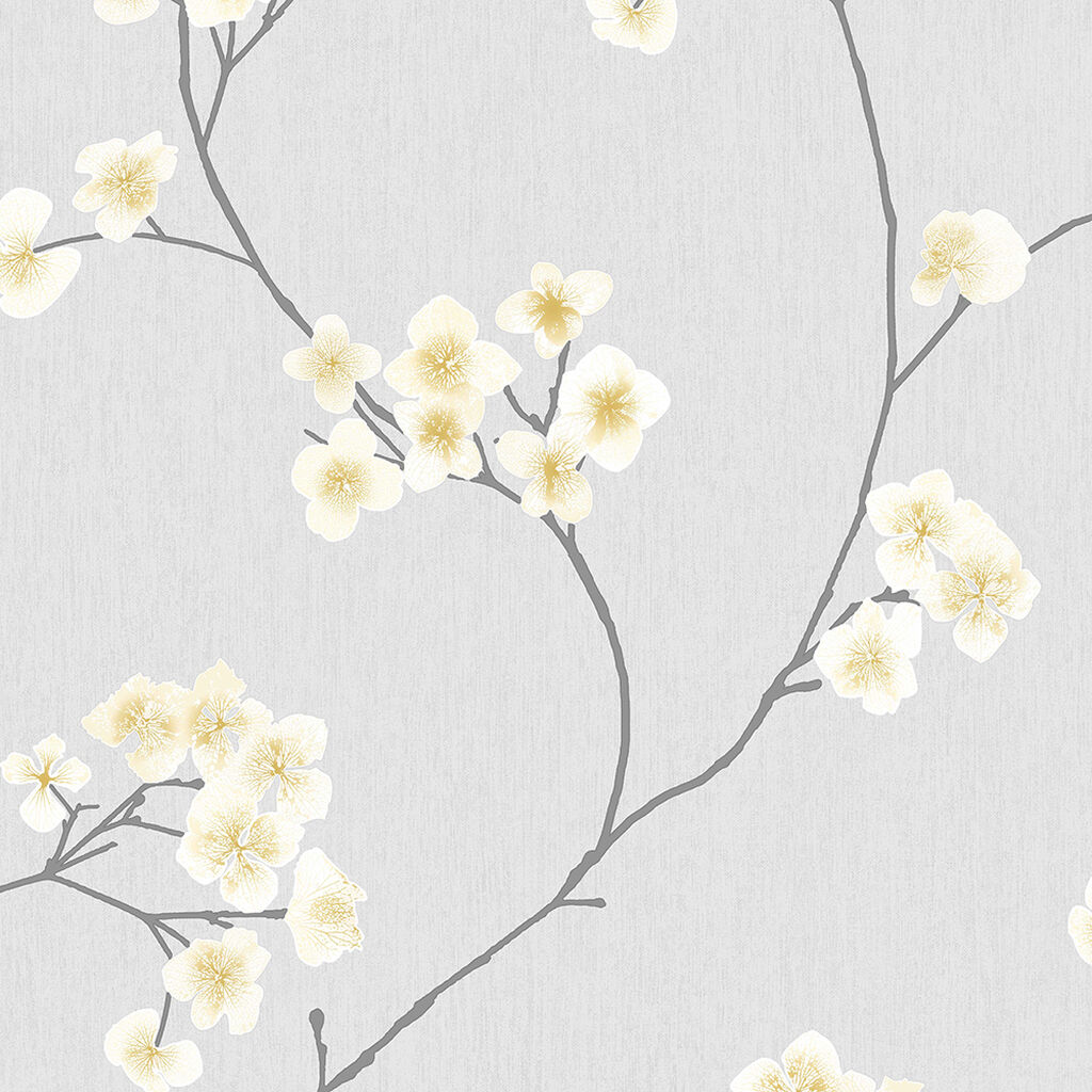 Radiance Grey and Ochre Wallpaper, , wallpaperIT