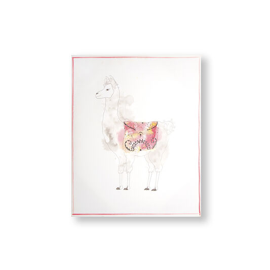Lucky Llama Printed Canvas Wall Art, , wallpaperIT