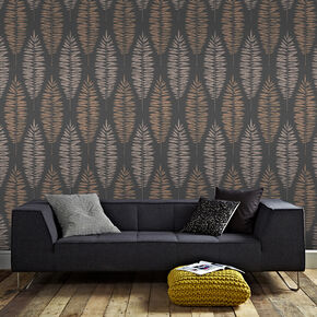 Lucia Black & Copper Wallpaper, , wallpaperIT