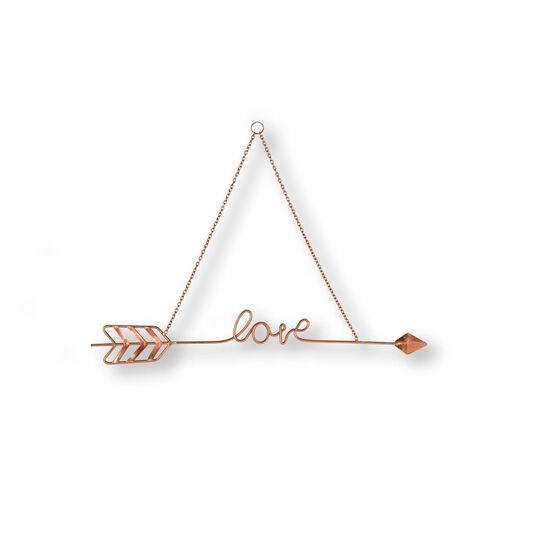 Love Story Rose Gold Metal Wall Art, , wallpaperIT