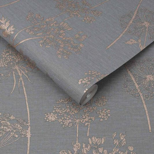 Wild Flower Charcoal Wallpaper, , wallpaperIT