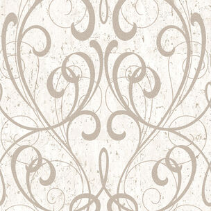 Cream & Pale Gold Cork Damask Wallpaper, , wallpaperIT