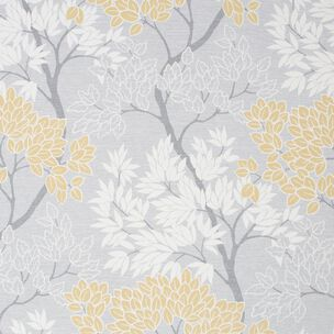 Fresco Lykke Tree Ochre Floral Wallpaper, , wallpaperIT