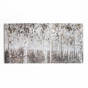 Neutral Watercolour Woods Printed Canvas Wall Art, , wallpaperIT