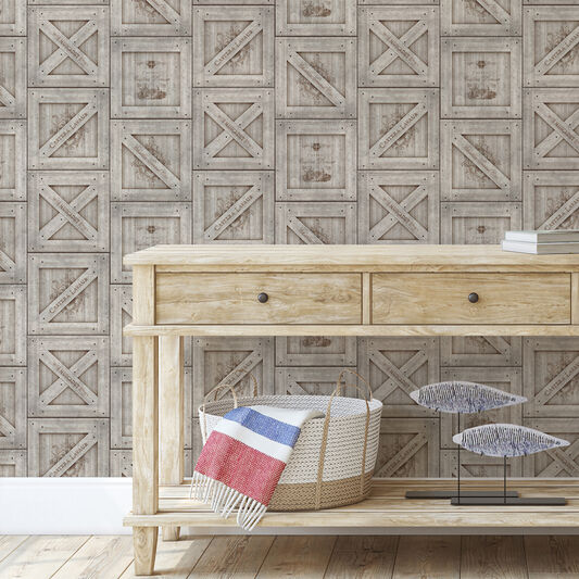 Crates Beige Wallpaper, , wallpaperIT