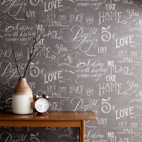 Chalk Board Grey Wallpaper, , wallpaperIT