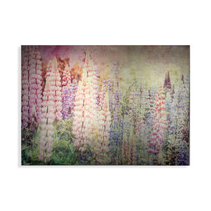 Bright Metallic Meadow Printed Canvas Wall Art, , wallpaperIT