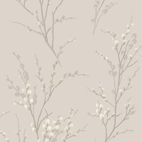 Laura Ashley Pussy Willow Dove Grey Wallpaper, , wallpaperIT