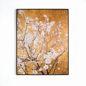 Oriental Blossom Hand Painted Framed Canvas Wall Art, , wallpaperIT