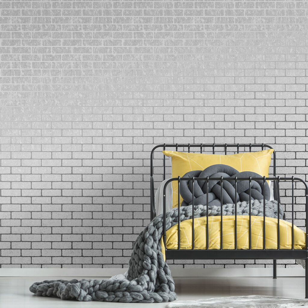 Milan Brick Silver Wallpaper, , wallpaperIT