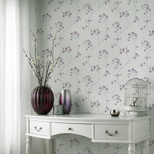 Radiance White and Lavender Wallpaper, , wallpaperIT