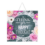 Chalkboard Happy Thoughts Printed Canvas Wall Art , , wallpaperIT