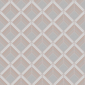 Trifina Geo Taupe & Copper Wallpaper, , wallpaperIT