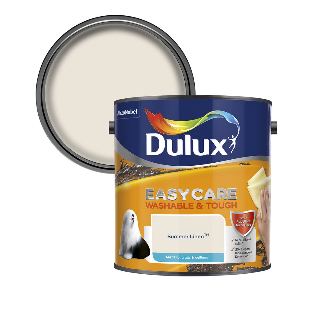 Dulux Easycare Matt 2.5L Summer Linen, , wallpaperIT