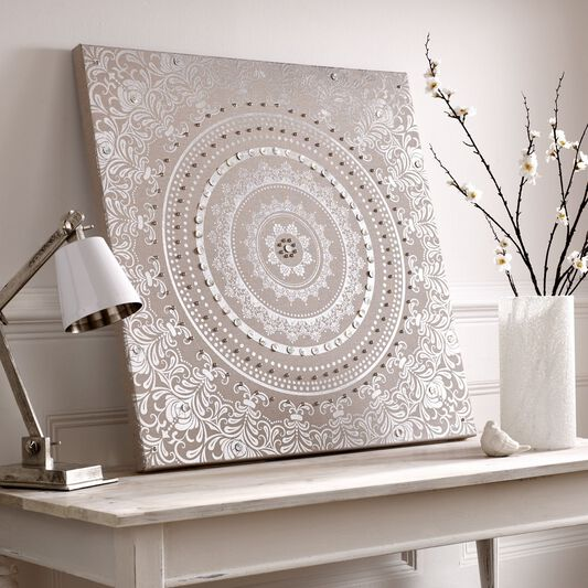 Embellished Cocoon Fabric Canvas Wall Art, , wallpaperIT