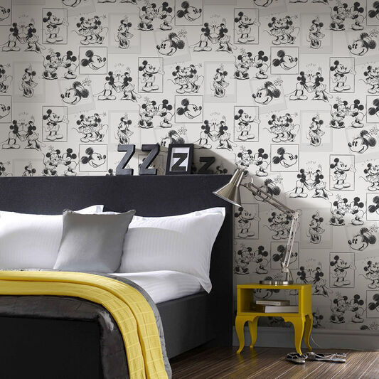 Mickey and Minnie Sketch Wallpaper, , wallpaperIT