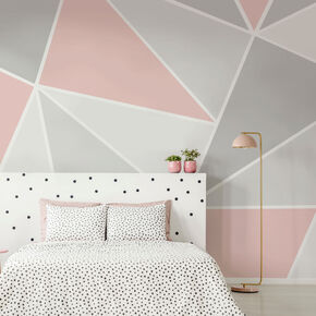 Trinity Geo Blush Wall Mural, , wallpaperIT