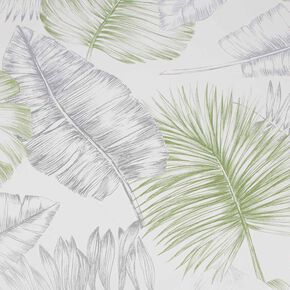 Daintree Green & Silver Wallpaper, , wallpaperIT