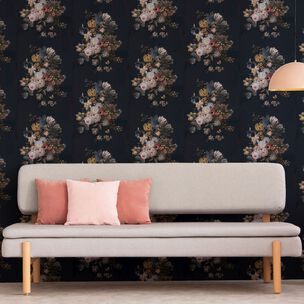 Dutch Master Navy Floral Wallpaper, , wallpaperIT