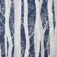Dappled Trees Navy Wallpaper, , wallpaperIT