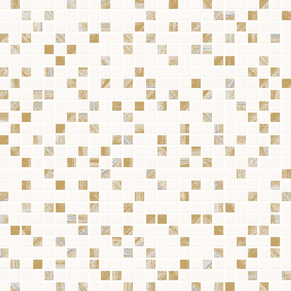 Aurora Tile White and Gold Wallpaper, , wallpaperIT