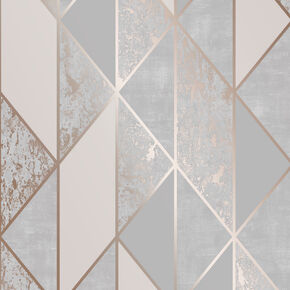 Milan Geo Rose Gold Wallpaper, , wallpaperIT