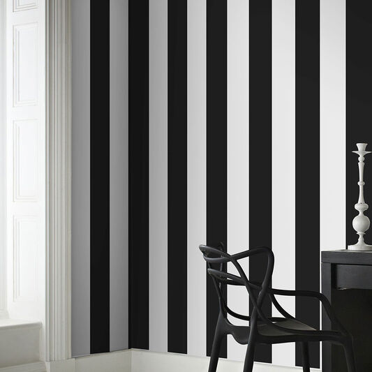 Rayure Black & White Wallpaper, , wallpaperIT