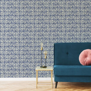 Transform Tile Navy Wallpaper, , wallpaperIT