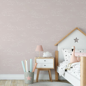 Vintage Cloud Pink Wallpaper, , wallpaperIT