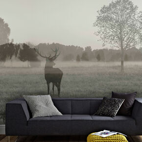 Stag In The Woods Wall Mural, , wallpaperIT