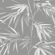 Asia Dark Grey Bamboo Leaf Wallpaper, , wallpaperIT