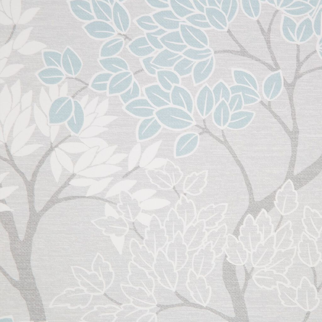 Fresco Lykke Tree Sky Blue Floral Wallpaper Blue Wallpaper Fresco