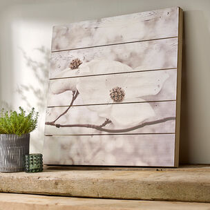 Serenity Blossoms Print On Wood Wall Art, , wallpaperIT