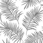 Scandi Leaf White & Grey Forest Wallpaper